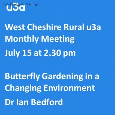U3a July 2021 Butterfly Talk