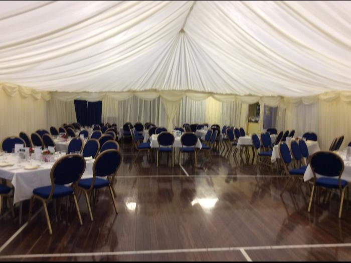Main hall with tent effect